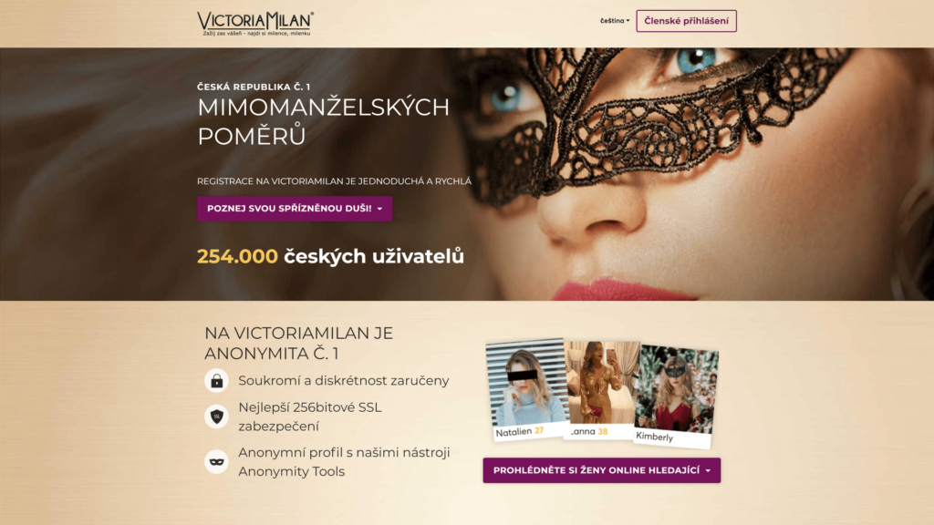 Victoria Milan domovská stránka